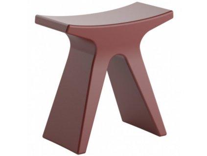Vínově červená plastová stolička COLOS PIGRECO 43 cm