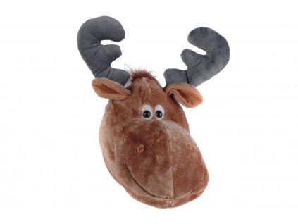 Plyšová nástěnná dekorace ve tvaru losa Vipack Moose