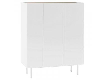 Bílá dubová komoda Teulat Arista 95 x 40 cm