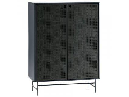 Tmavě modrá dřevěná komoda Teulat Punto 93 x 45 cm
