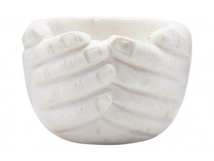 Bílá mramorová miska Hands