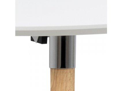 Bílý rozkládací jídelní stůl Ballet 170-270x100 cm