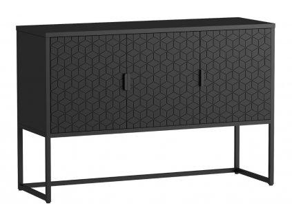 Černý dřevěný TV stolek Derek 120 x 40 cm