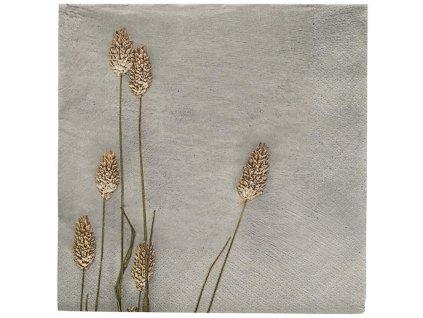 Šedé papírové ubrousky Grass 2