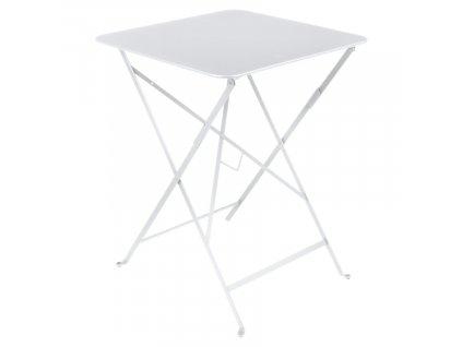 Bílý kovový skládací stůl Fermob Bistro 57 x 57 cm