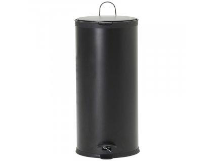 Černý pedálový odpadkový koš Eda 30 l