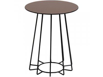 Bronzový odkládací stolek Spyder 40 cm s černou podnoží