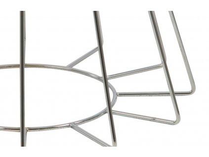 Měděný skleněný konferenční stolek Goldy 80 cm, sklo s bronzovým nástřikem, černě lakovaný kov