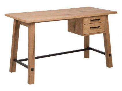 Přírodní dubový pracovní stůl Kiruna 130 cm