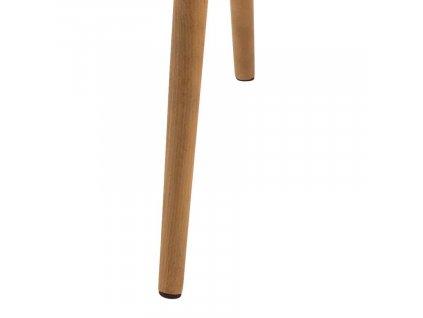 Hnědá koženková židle Marte s područkami