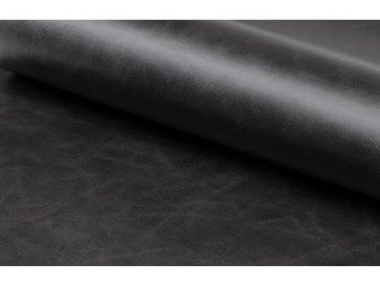 Černá čalouněná židle Marte s područkami