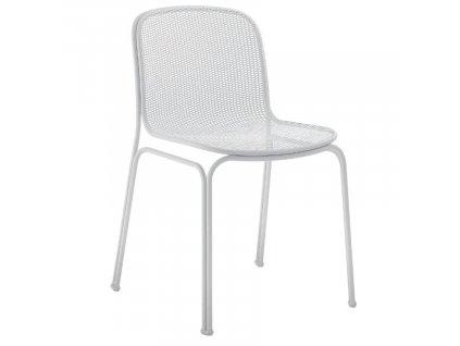 Bílá kovová zahradní židle COLOS VILLA 1