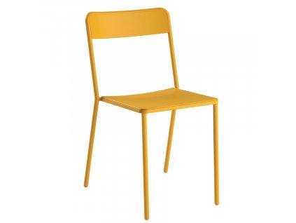 Hořčicově žlutá kovová zahradní židle COLOS C 1.1/1