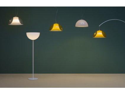 Černá kovová stojací lampa Pedrali L002ST/BA