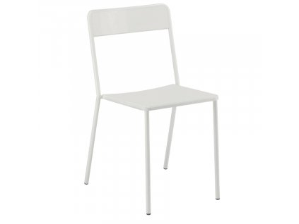 Bílá kovová zahradní židle COLOS C 1.1/1