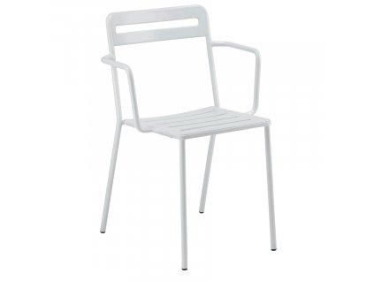 Bílá kovová zahradní židle COLOS C 1.2/4