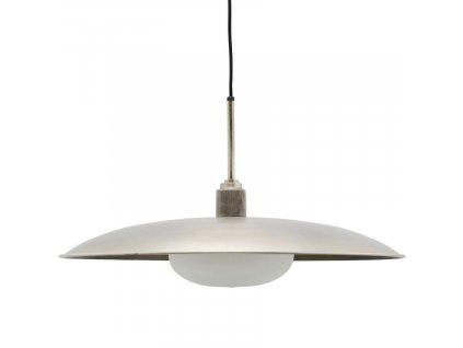 Mosazně šedé kovové závěsné světlo Boston 60 cm
