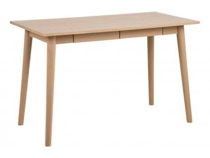 Přírodní dubový pracovní stůl Maryt 120x60 cm, dubová dýha/masivní dubové dřevo