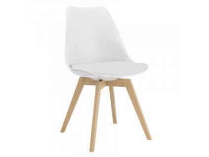 Bílá plastová jídelní židle Tenzo Gina
