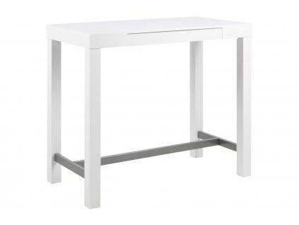 Bílý barový stůl Helena 120 cm