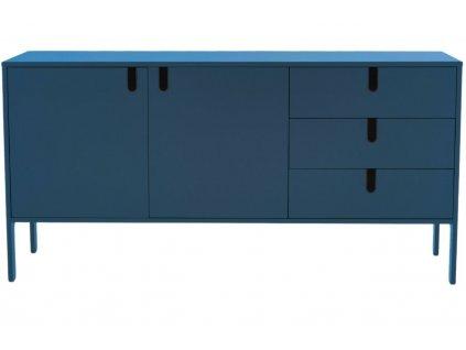 Matně petrolejově modrá lakovaná komoda Tenzo Uno 171 x 46 cm