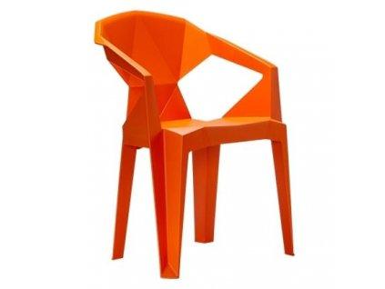 Designová plastová židle Destiny, oranžová