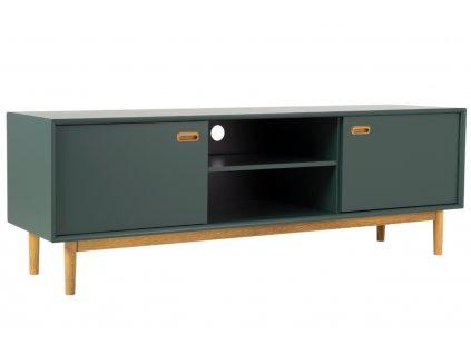zelený lakovaný TV stolek Tenzo Svea 170 x 44 cm
