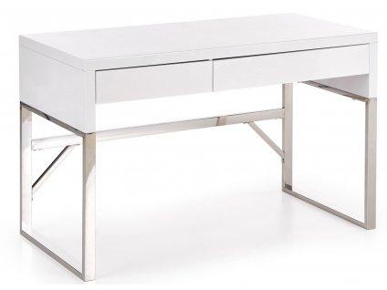 Bílý designový kancelářský stůl Lux 120x60 cm
