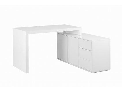 Bílý designový kancelářský set Loft
