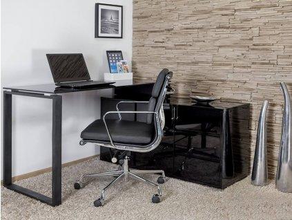 Designový kancelářský set Loft, černá