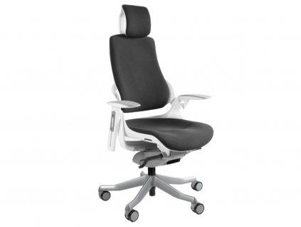 Černá designová kancelářská židle Master A02 s kovovou podnoží