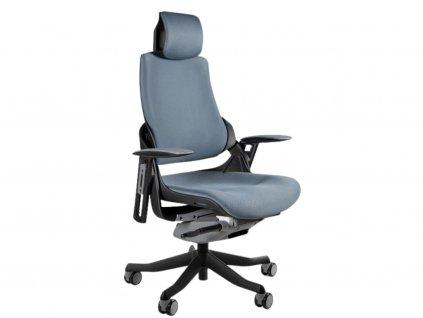 Šedá designová kancelářská židle Master E04