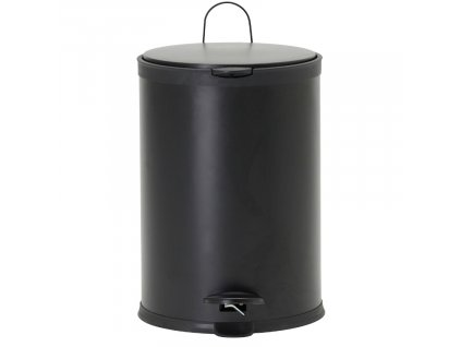 Černý pedálový odpadkový koš Eda 20 l