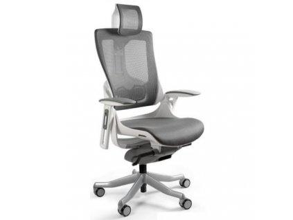 Šedá designová kancelářská židle Master E03