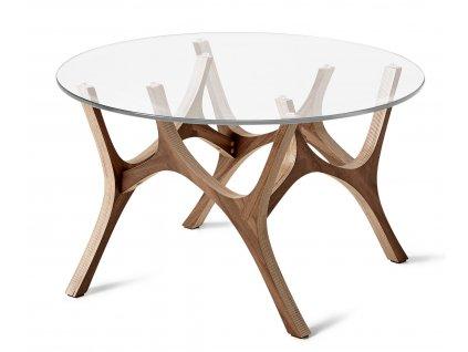 Ořechový konferenční stolek Tabanda Moose 59 cm