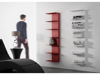 Designová knihovna Marina 2, červená