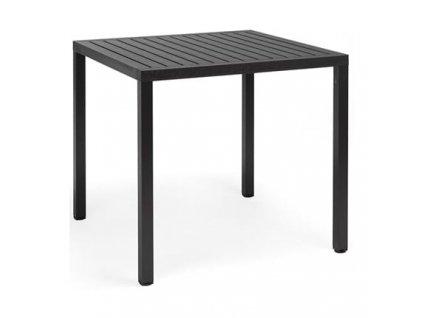 Černý stůl Lima 80x80