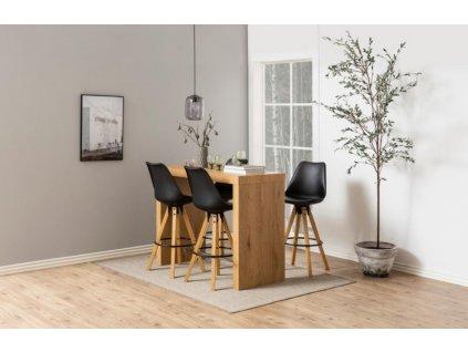 Černá plastová barová židle Damian