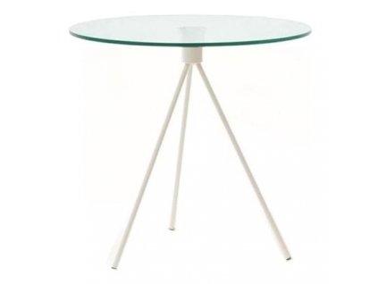 Odkládací stolek Bohem 50 cm, bílá