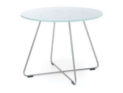 Skleněný konferenční stolek ST45 Ø 60 cm