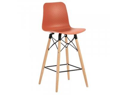 Červená plastová barová židle Marckeric Golf-3 105 cm