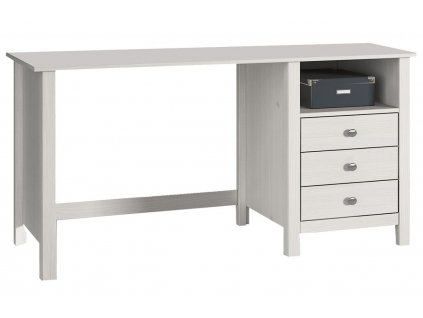 Bílý borovicový pracovní stůl Marckeric Berna 120 x 54 cm