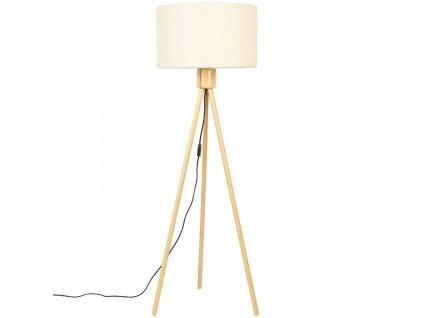 Bílá bambusová stojací lampa Zuiver Fan 155 cm