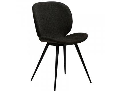 Černá látková jídelní židle DanForm Cloud