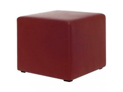 Tmavě červený taburet MARBET MIA CUBE