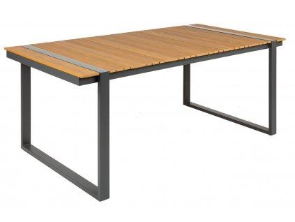 Hnědý plastový zahradní stůl Holiday 180 x 90 cm