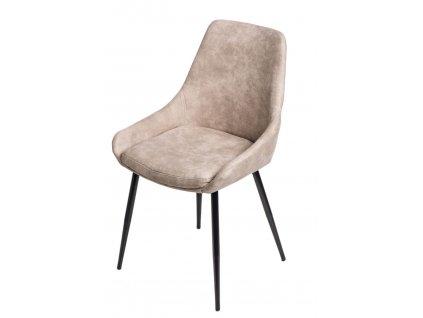 Designová židle Sofia se zvýšeným sedákem, béžová