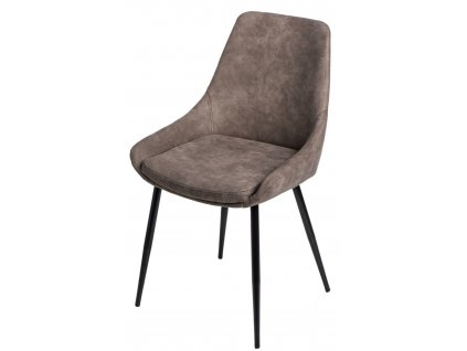 Hnědá designová židle Sofia se zvýšeným sedákem