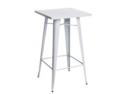 Designový industriální barový stůl bílé barvy