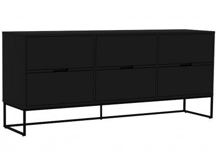 Matně černá lakovaná komoda Tenzo Lipp 176,5 x 43 cm